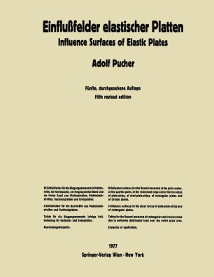 Einflußfelder elastischer Platten / Influence Surfaces of Elastic Plates