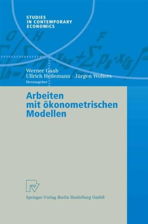 Arbeiten Mit 246 Konometrischen Modellen Springerlink border=