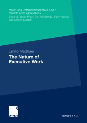 The Nature of Executive Work