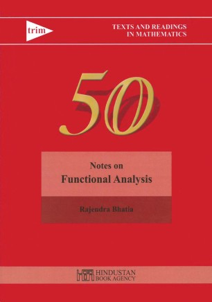 Notes on Functional Analysis | SpringerLink