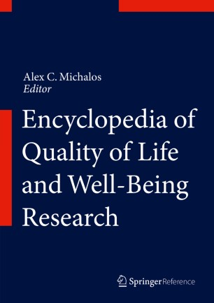 Encyclopedia of Quality of Life and Well-Being Research :