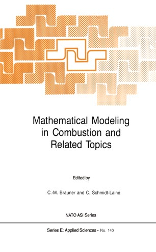 Mathematical Modeling In Combustion And Related Topics Springerlink