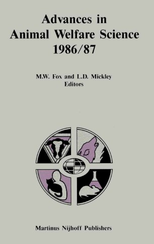 Advances in Animal Welfare Science 1986/87