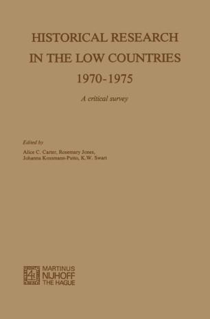 The Low Countries History Yearbook: Acta Historiae Neerlandicae