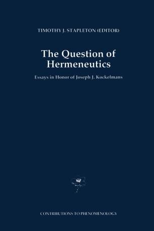 The Question of Hermeneutics