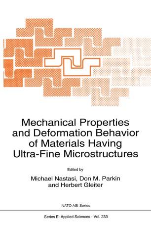 Inelastic Deformation of Metals: Models, Mechanical Properties, and Metallurgy