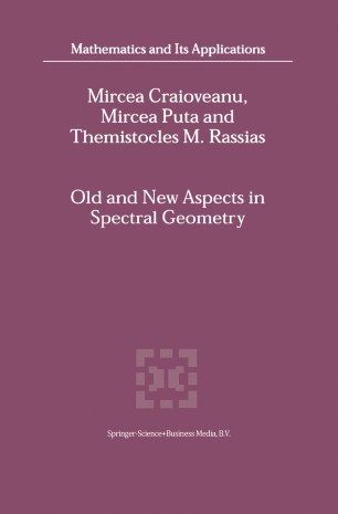 Old and New Aspects in Spectral Geometry
