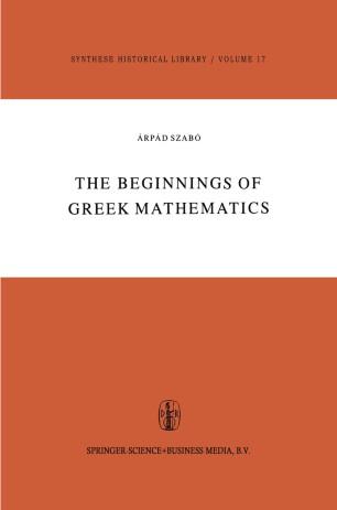 The Beginnings of Greek Mathematics
