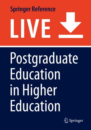 Postgraduate Education in Higher Education :