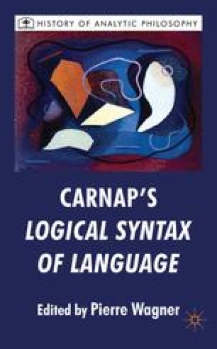 Carnap's Logical Syntax of Language