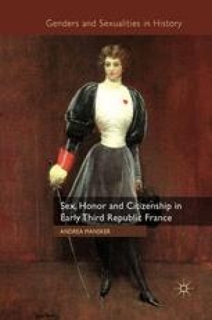 """Mademoiselle Arria Ly Wants Blood!"""" The New Woman and the Debate over  Female Honor 