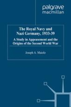 The Naval Staff And The Anglo German Naval Agreement Of June 1935