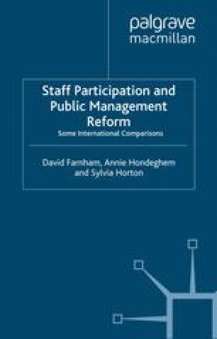 Staff Participation and Public Management Reform
