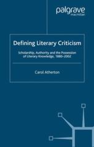 Defining Literary Criticism