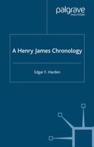 A Henry James Chronology