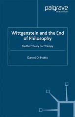 Wittgenstein and the End of Philosophy
