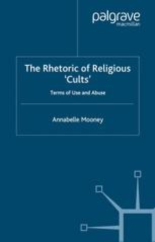 The Rhetoric of Religious 'Cults'