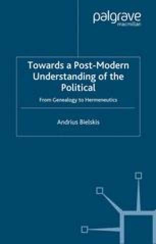 Towards a Post-Modern Understanding of the Political