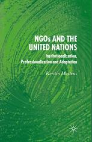 NGOs and the United Nations