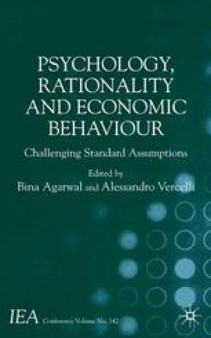 Psychology, Rationality and Economic Behaviour