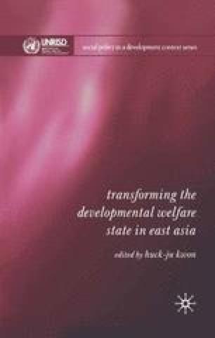 Transforming the Developmental Welfare State in East Asia