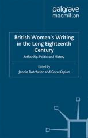 British Women's Writing in the Long Eighteenth Century