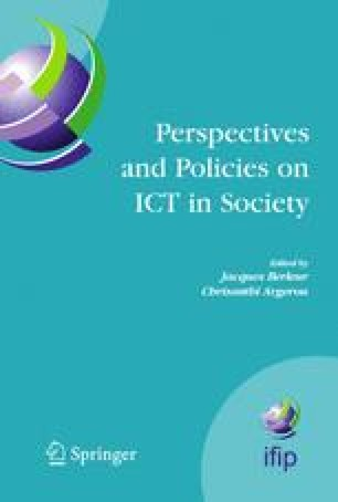 Perspectives and Policies on ICT in Society