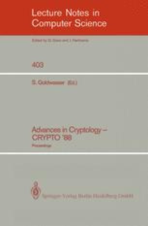 Advances in Cryptology — CRYPTO' 88