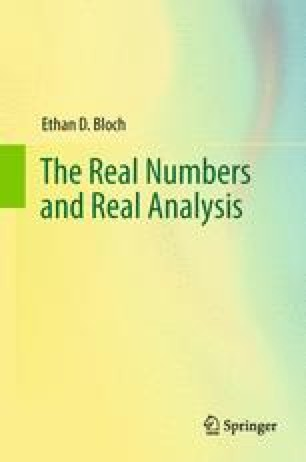 The Real Numbers and Real Analysis