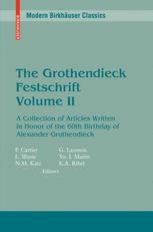 The Grothendieck Festschrift