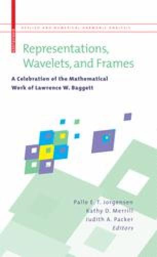 Representations, Wavelets, and Frames