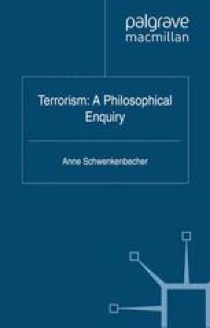 Terrorism: A Philosophical Enquiry