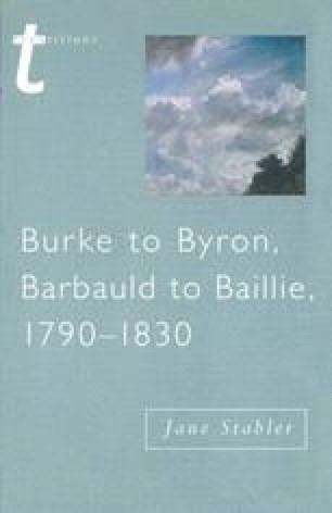 Burke to Byron, Barbauld to Baillie, 1790–1830