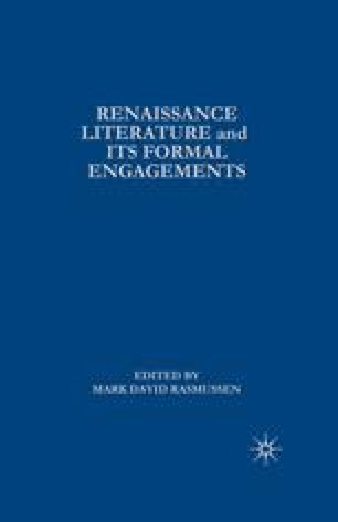 Renaissance Literature and Its Formal Engagements