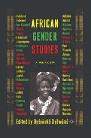 Gender, Feminist Theory, and Post-Colonial (Women's) Writing