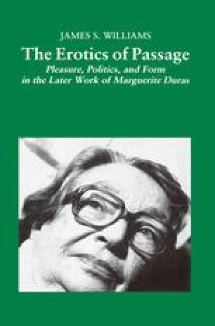 The Erotics of Passage
