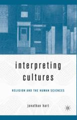 Interpreting Cultures: Literature, Religion, and the Human Sciences