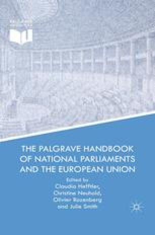The Palgrave Handbook of National Parliaments and the European Union