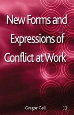 New Forms and Expressions of Conflict at Work