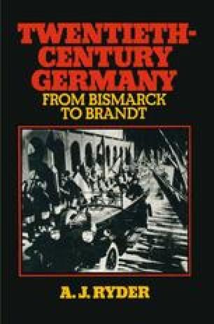 Twentieth-Century Germany: From Bismarck to Brandt
