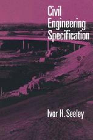 Civil Engineering Specification