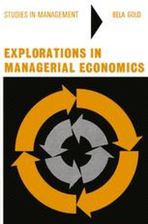 theory of cost in managerial economics