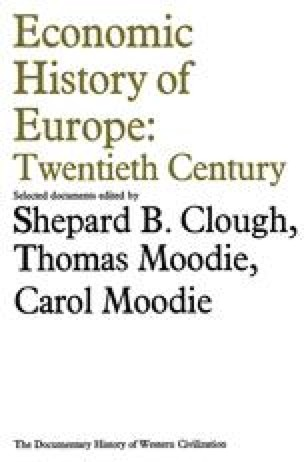 Economic History of Europe: Twentieth Century