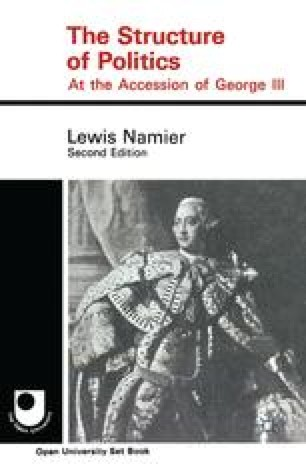 The Structure of Politics at the Accession of George III
