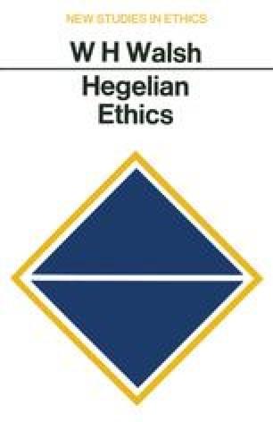 Hegelian Ethics