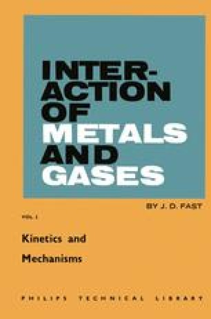 Interaction of Metals and Gases