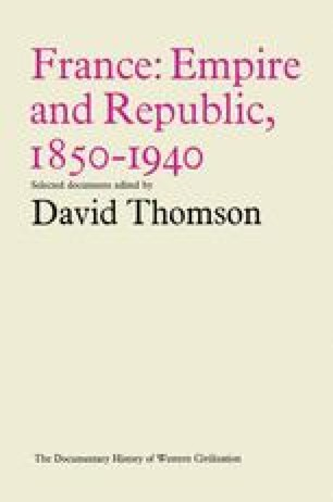 France: Empire and Republic, 1850–1940