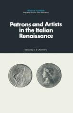 Patrons and Artists in the Italian Renaissance