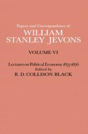 Papers and Correspondence of William Stanley Jevons