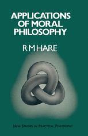 Applications of Moral Philosophy